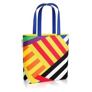 NWT Clinique x Donald LE Abstract Neon Tote Bag